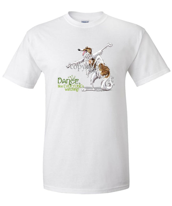 Borzoi - Dance Like Everyones Watching - T-Shirt