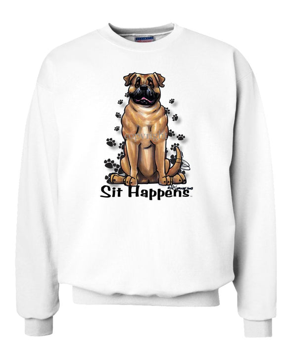 Bullmastiff - Sit Happens - Sweatshirt