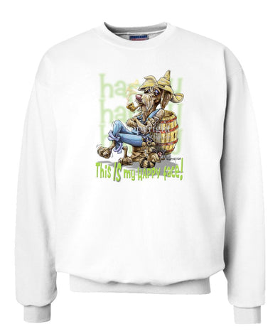 German Wirehaired Pointer - Who's A Happy Dog - Sweatshirt