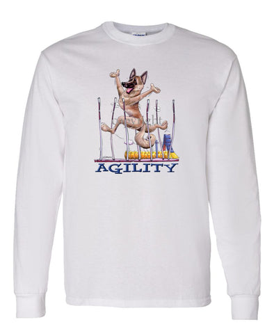Belgian Malinois - Agility Weave II - Long Sleeve T-Shirt