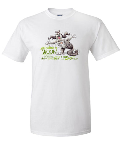 Bearded Collie - You Had Me at Woof - T-Shirt