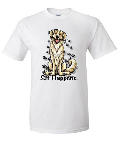 Golden Retriever - Sit Happens - T-Shirt
