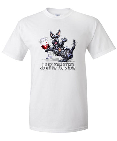 Scottish Terrier - It's Drinking Alone 2 - T-Shirt