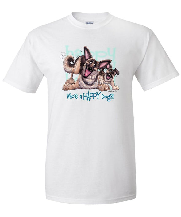 German Shepherd - Who's A Happy Dog - T-Shirt