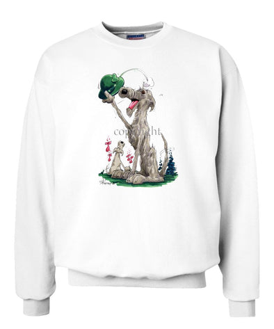 Irish Wolfhound - Tipping Hat - Caricature - Sweatshirt