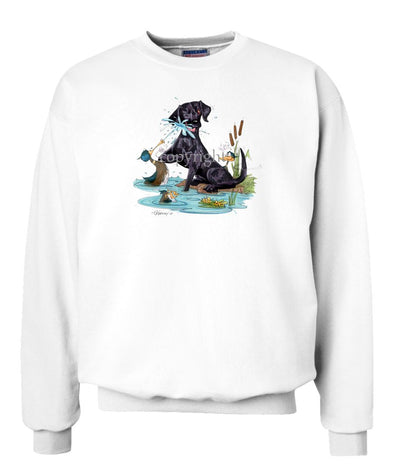 Labrador Retriever  Black - Duck Squirting - Caricature - Sweatshirt
