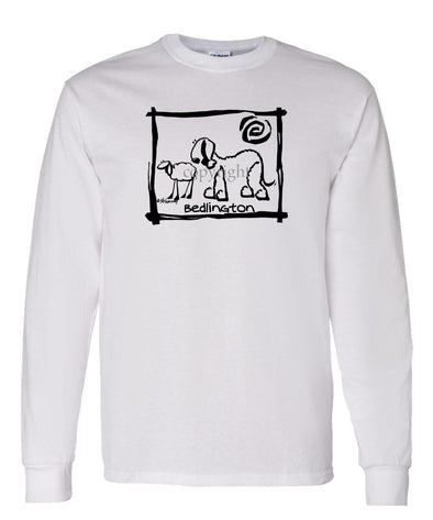 Bedlington Terrier - Cavern Canine - Long Sleeve T-Shirt