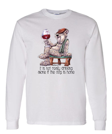 Soft Coated Wheaten - It's Not Drinking Alone - Long Sleeve T-Shirt