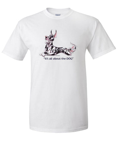 Great Dane  Harlequin - All About The Dog - T-Shirt