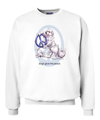 Great Pyrenees - Peace Dogs - Sweatshirt