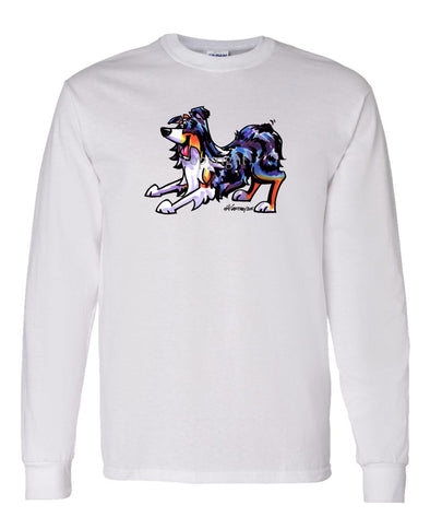 Australian Shepherd  Blue Merle - Cool Dog - Long Sleeve T-Shirt