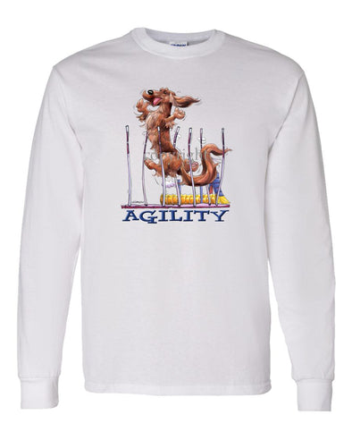Dachshund  Longhaired - Agility Weave II - Long Sleeve T-Shirt