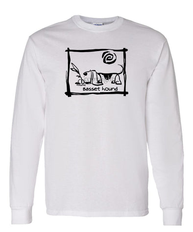 Basset Hound - Cavern Canine - Long Sleeve T-Shirt