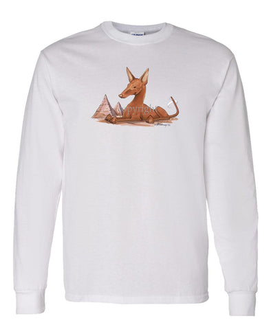 Pharoah Hound - Caricature - Long Sleeve T-Shirt