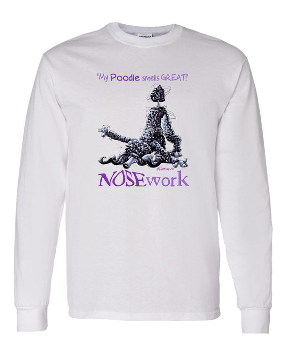 Poodle  Black - Nosework - Long Sleeve T-Shirt
