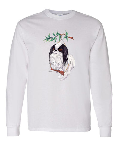 Japanese Chin - Swing - Caricature - Long Sleeve T-Shirt