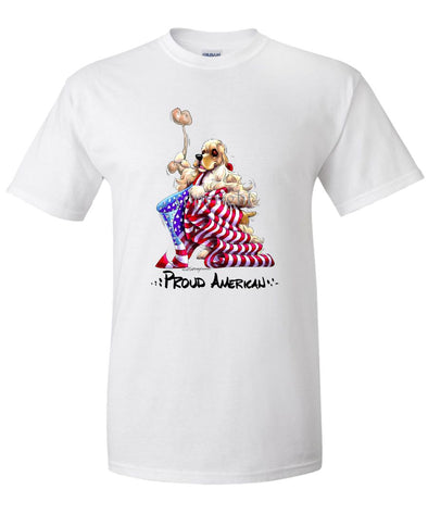 Cocker Spaniel - Proud American - T-Shirt