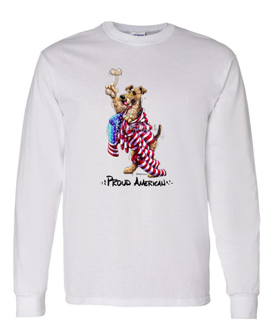 Airedale Terrier - Proud American - Long Sleeve T-Shirt
