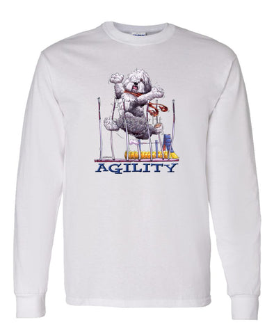 Old English Sheepdog - Agility Weave II - Long Sleeve T-Shirt
