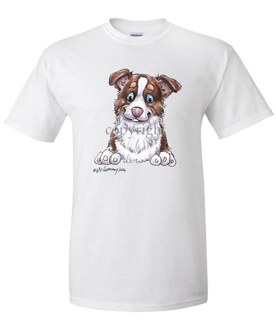 Border Collie  Red Tri - Puppy - Caricature - T-Shirt