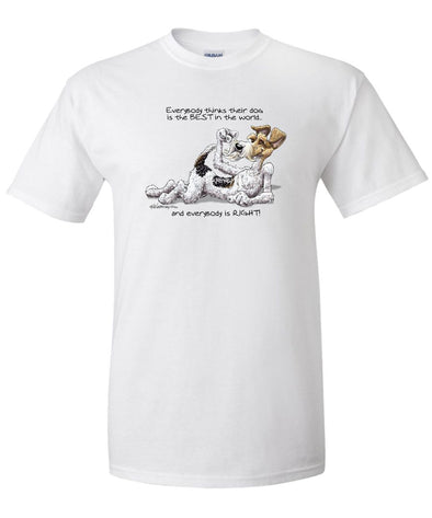 Wire Fox Terrier - Best Dog in the World - T-Shirt
