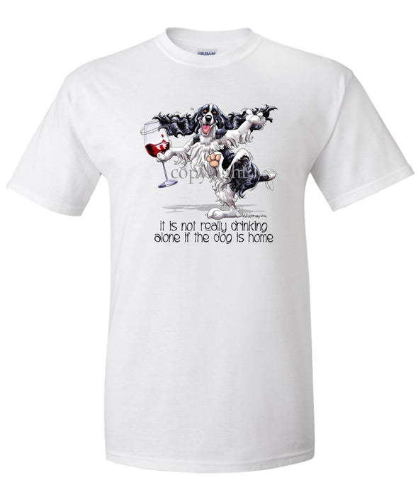 English Springer Spaniel - It's Drinking Alone 2 - T-Shirt