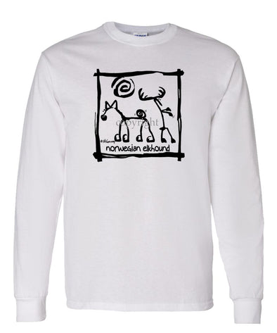 Norwegian Elkhound - Cavern Canine - Long Sleeve T-Shirt