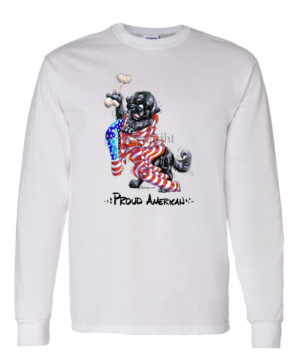 Newfoundland - Proud American - Long Sleeve T-Shirt