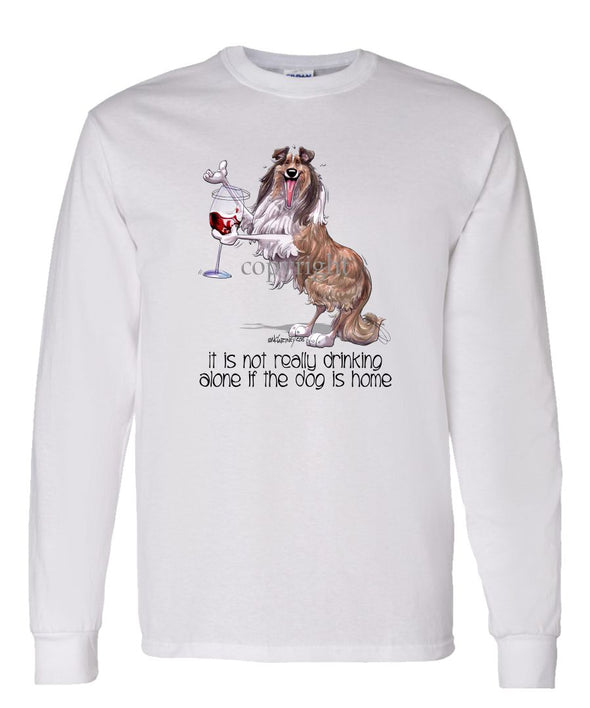 Collie - It's Not Drinking Alone - Long Sleeve T-Shirt