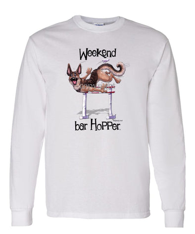 German Shepherd - Weekend Barhopper - Long Sleeve T-Shirt