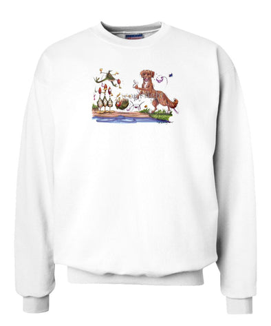 Nova Scotia Duck Tolling Retriever - Bowling Ducks - Caricature - Sweatshirt