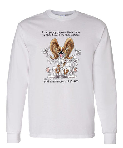 Papillon - Best Dog in the World - Long Sleeve T-Shirt