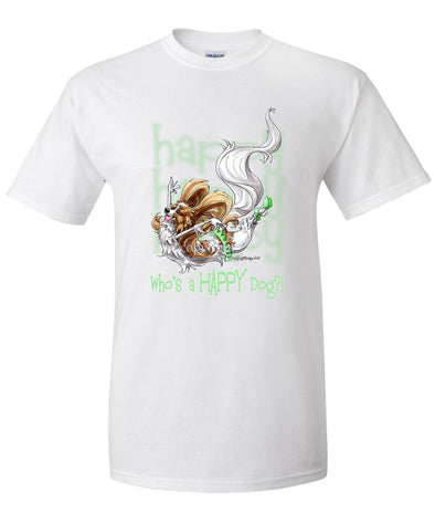 Papillon - Who's A Happy Dog - T-Shirt