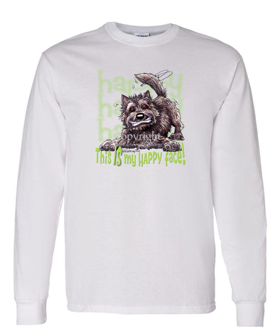 Cairn Terrier - 2 - Who's A Happy Dog - Long Sleeve T-Shirt