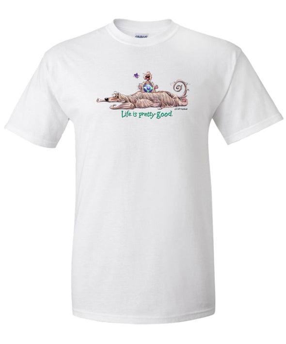 Afghan Hound - Life Is Pretty Good - T-Shirt