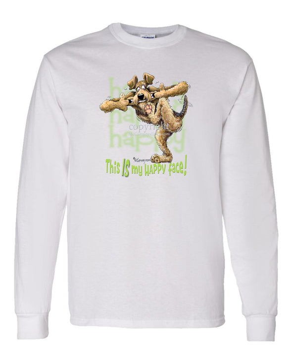 Airedale Terrier - 2 - Who's A Happy Dog - Long Sleeve T-Shirt