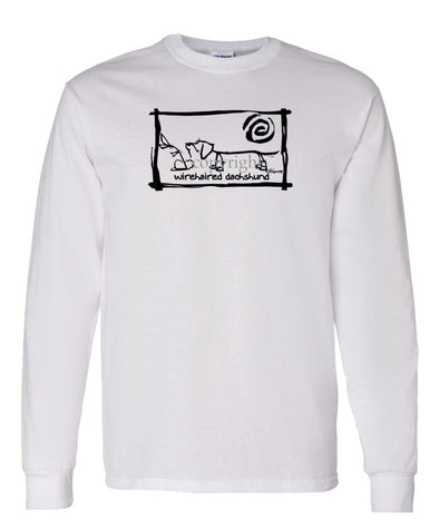 Dachshund  Wirehaired - Cavern Canine - Long Sleeve T-Shirt