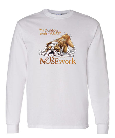Bulldog - Nosework - Long Sleeve T-Shirt