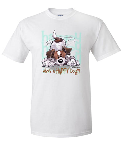 Jack Russell Terrier - Who's A Happy Dog - T-Shirt