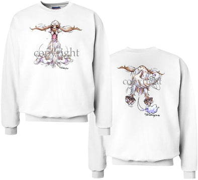 English Setter - Coming and Going - Sweatshirt (Double Sided)