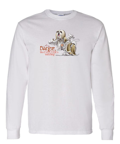 Lhasa Apso - Dance Like Everyones Watching - Long Sleeve T-Shirt