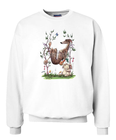Greyhound - Hammock - Caricature - Sweatshirt