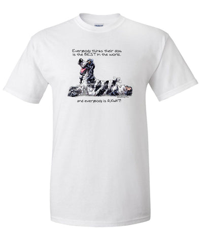 English Cocker Spaniel - Best Dog in the World - T-Shirt