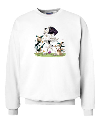 Pointer - Pheasants Pointing - Caricature - Sweatshirt