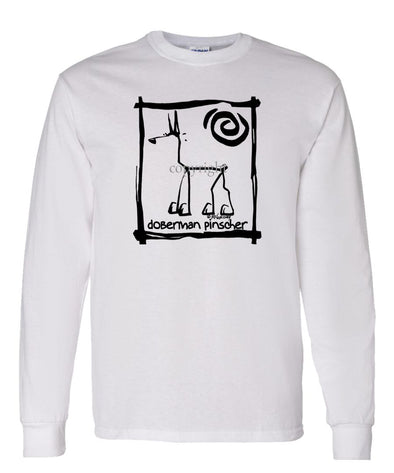 Doberman Pinscher - Cavern Canine - Long Sleeve T-Shirt