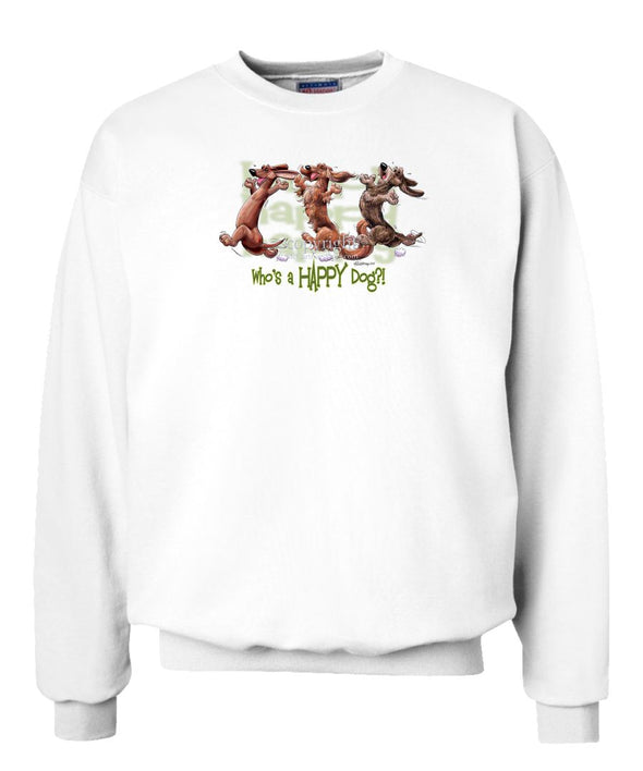 Dachshund - Group - Who's A Happy Dog - Sweatshirt