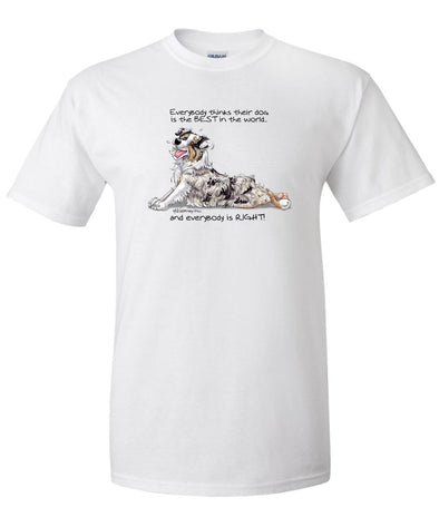 Australian Shepherd  Blue Merl - Best Dog in the World - T-Shirt