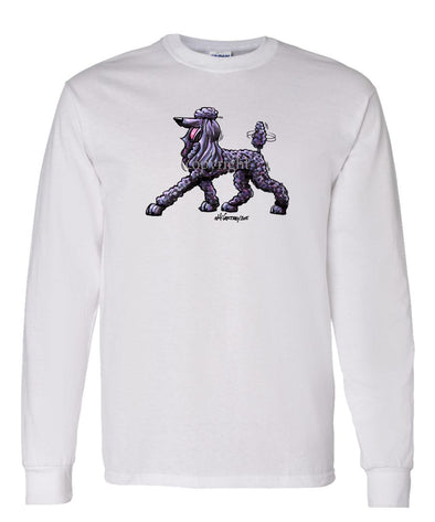 Poodle  Black - Cool Dog - Long Sleeve T-Shirt