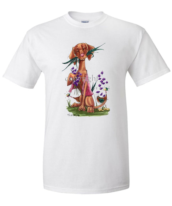 Vizsla - Tailfeathers - Caricature - T-Shirt