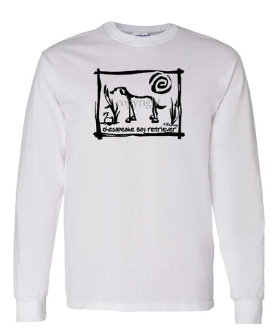 Chesapeake Bay Retriever - Cavern Canine - Long Sleeve T-Shirt